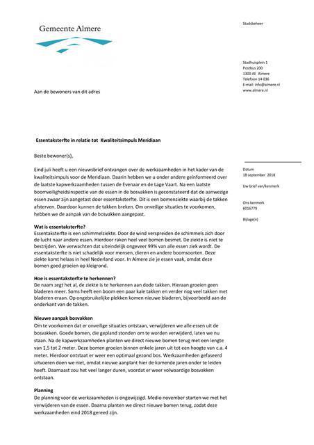 Brief Gemeente Almere Essentaksterfte deel 1 18-09-2018