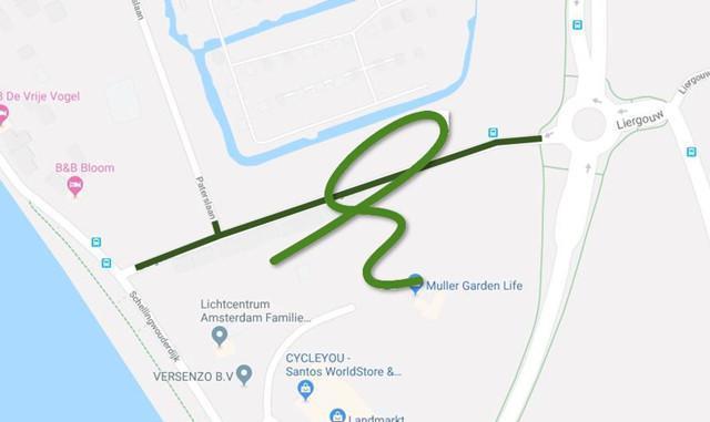 Liergouw, deeltraject 1 weer open voor het verkeer.