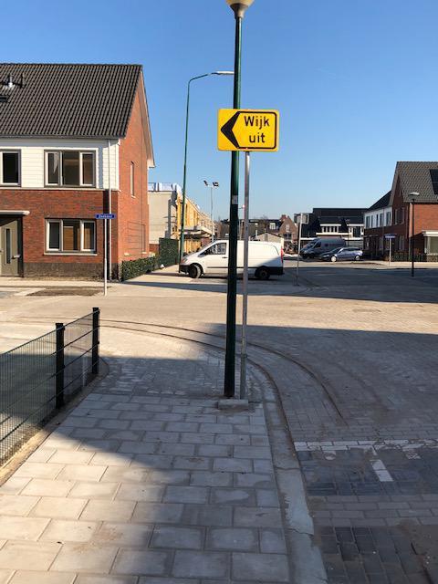 Nieuwe route wijk in en wijk uit