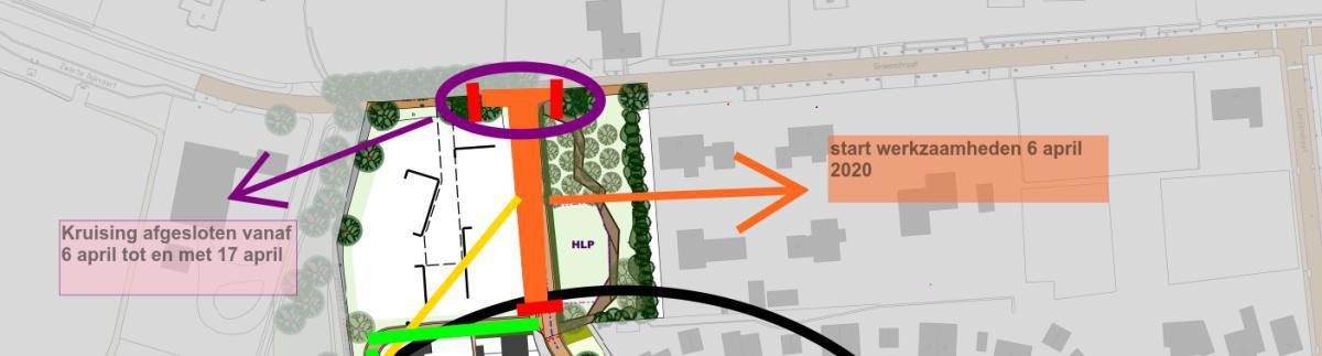 Kruising Groenstraat-Burgemeester Verdaasdonkstraat