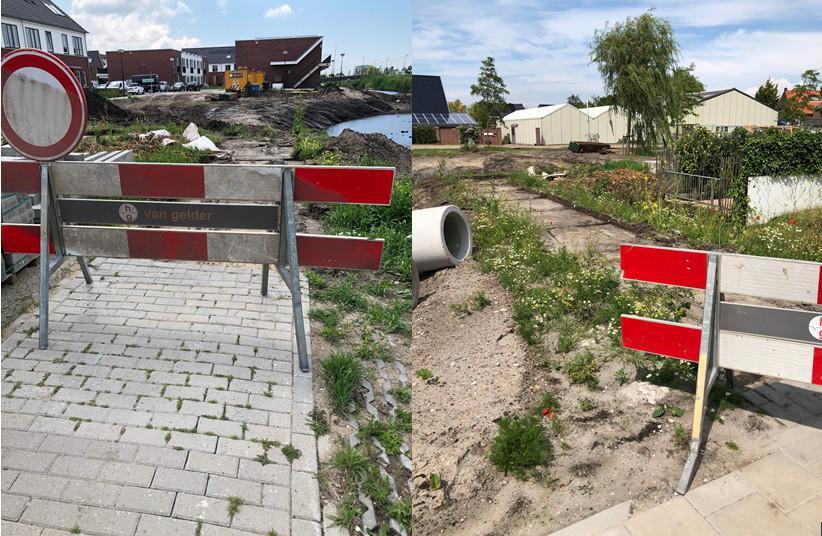 Voetpad afgesloten Aardpeer/Noordeinde
