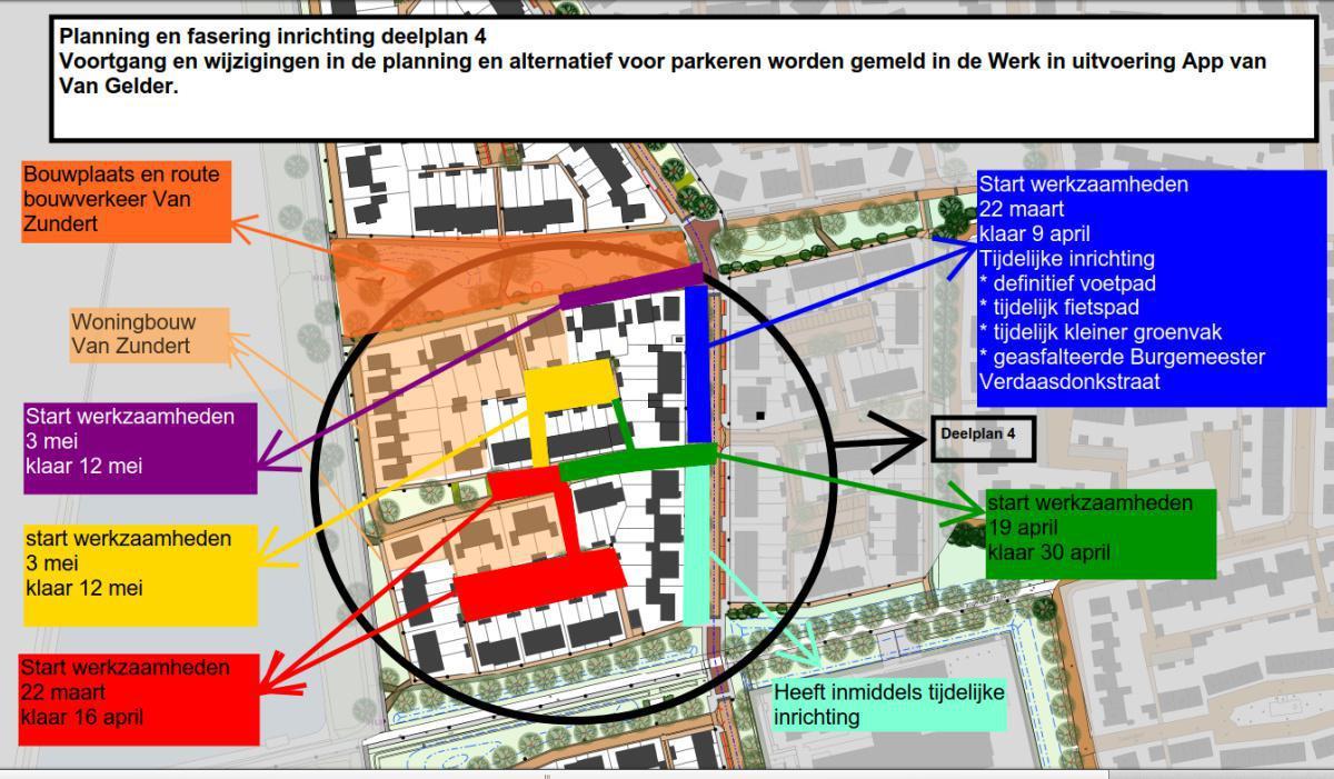 Planning definitieve inrichting deelplan 4