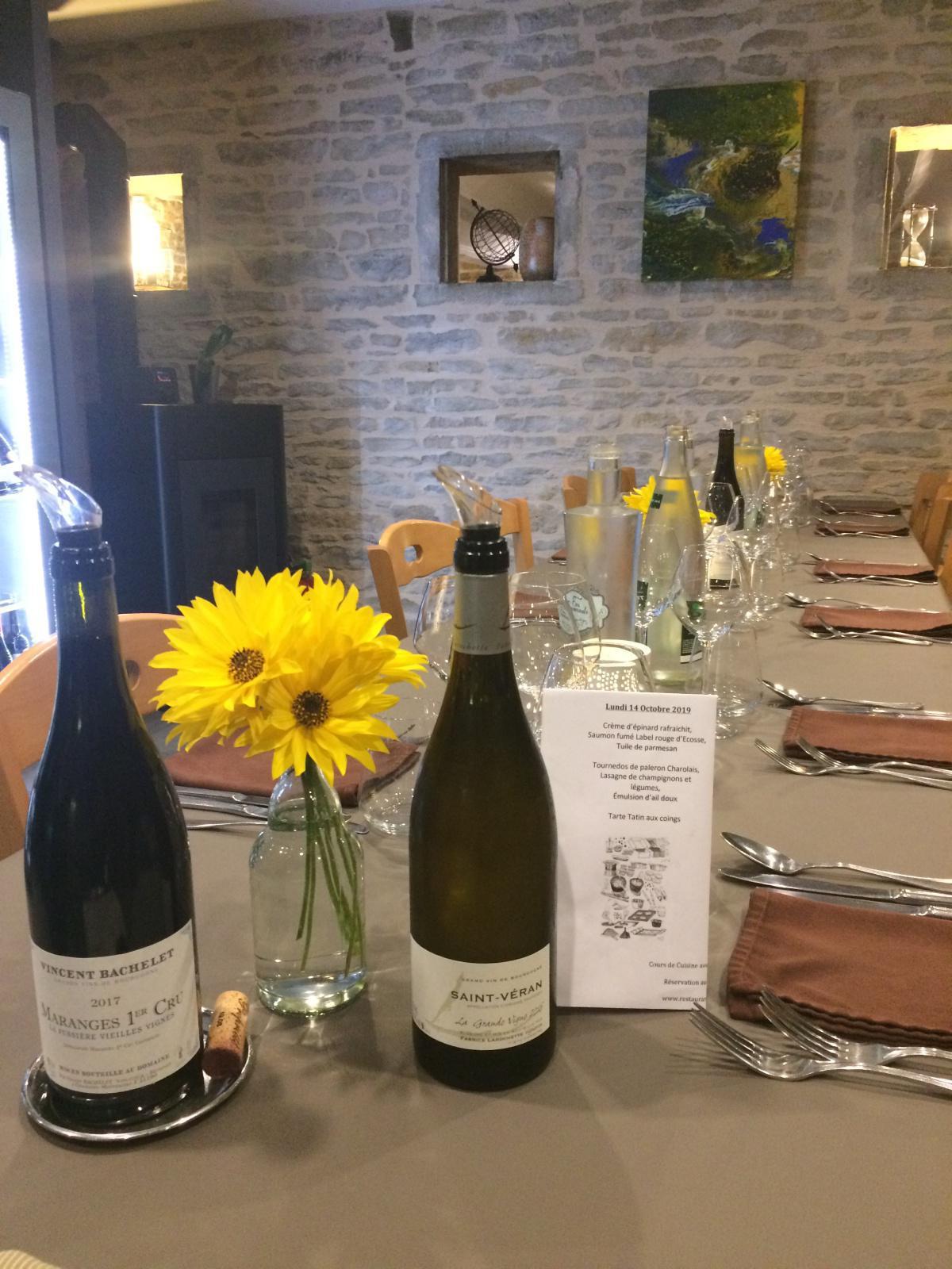 Cours de Cuisine du Lundi 14 Octobre 2019