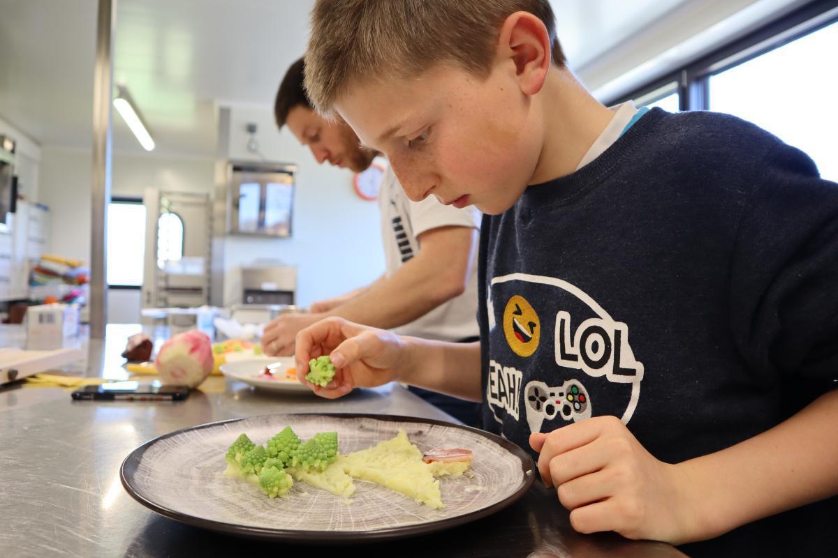 Travail pour le collège de Mathis ... Food Art ...