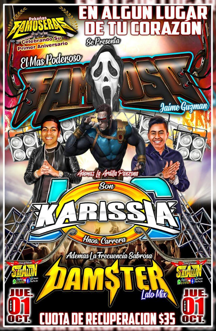 El Rumor de cumbia Sonido Karissia en San Miguel Tianguizolco. 01-10-2020