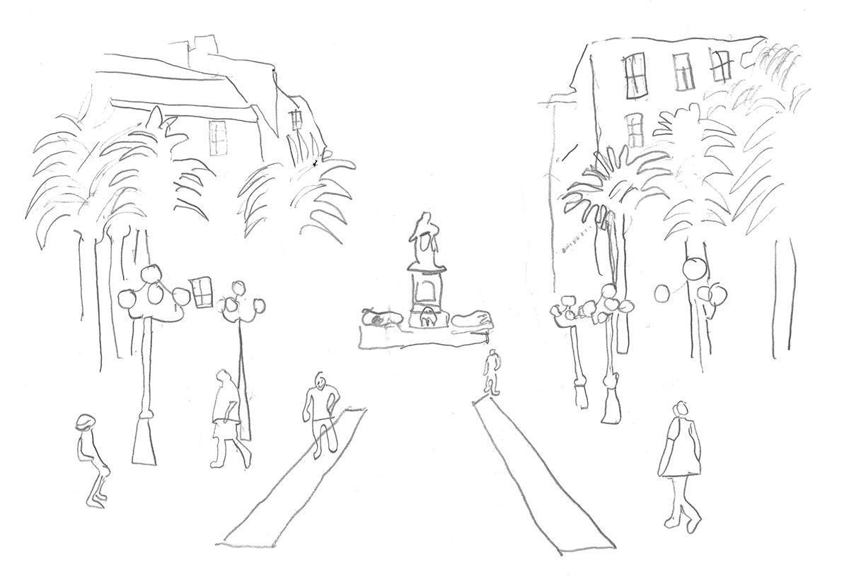 O comme piazza di l'Olmu