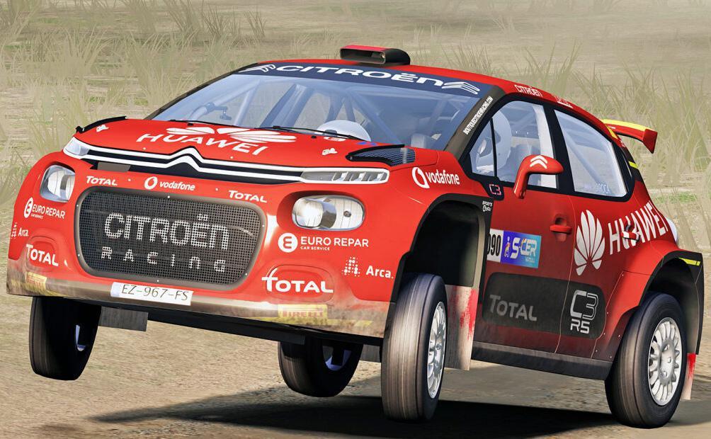 Triplete de Citroën en el Rallye Tierra Altas de Lorca virtual