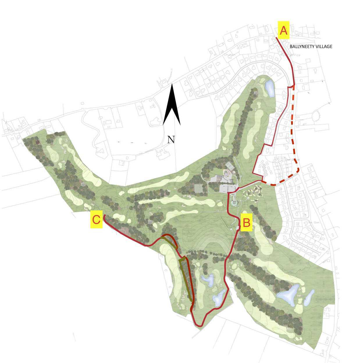Walking Track Route Map