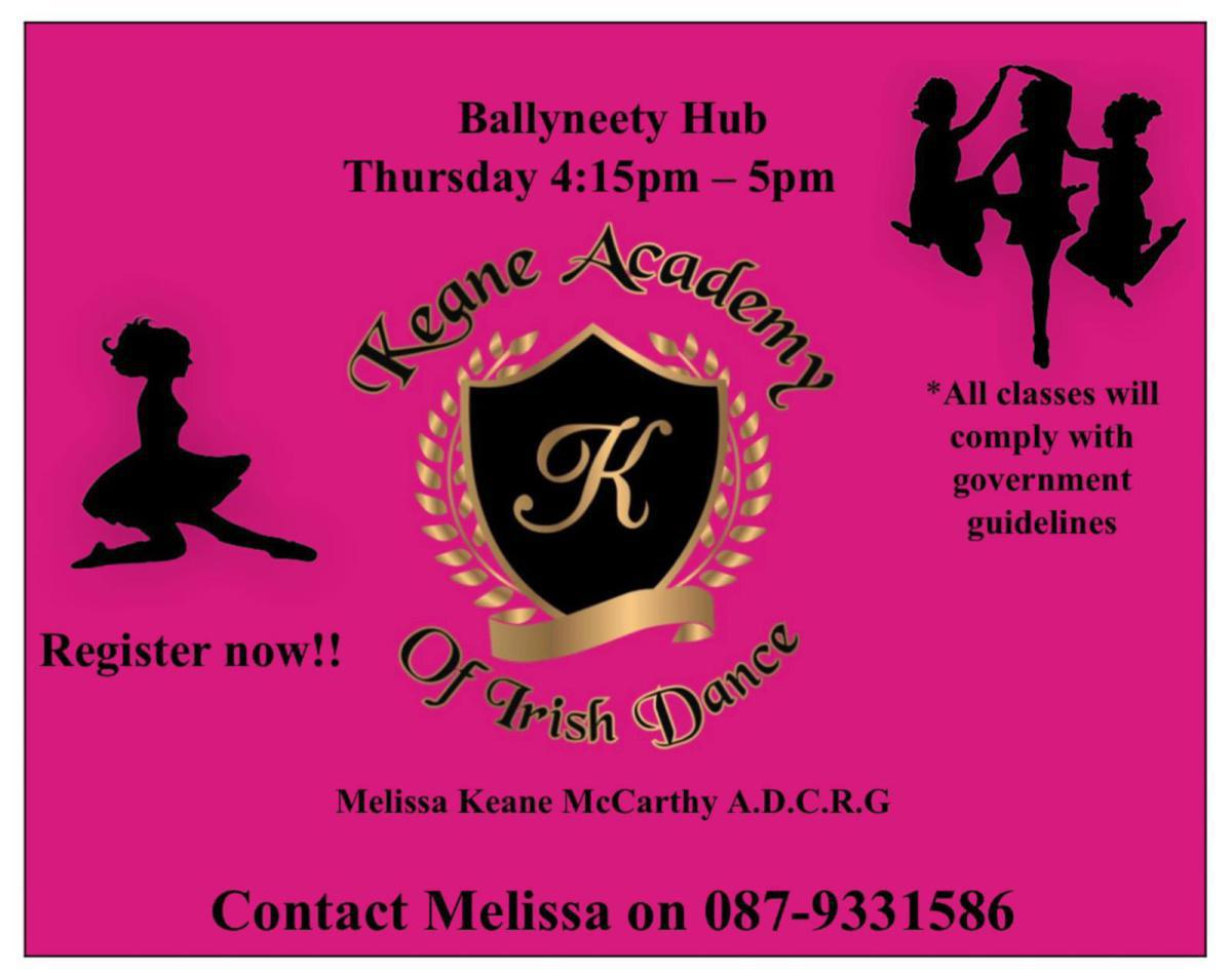 Irish dance classes - September 23rd