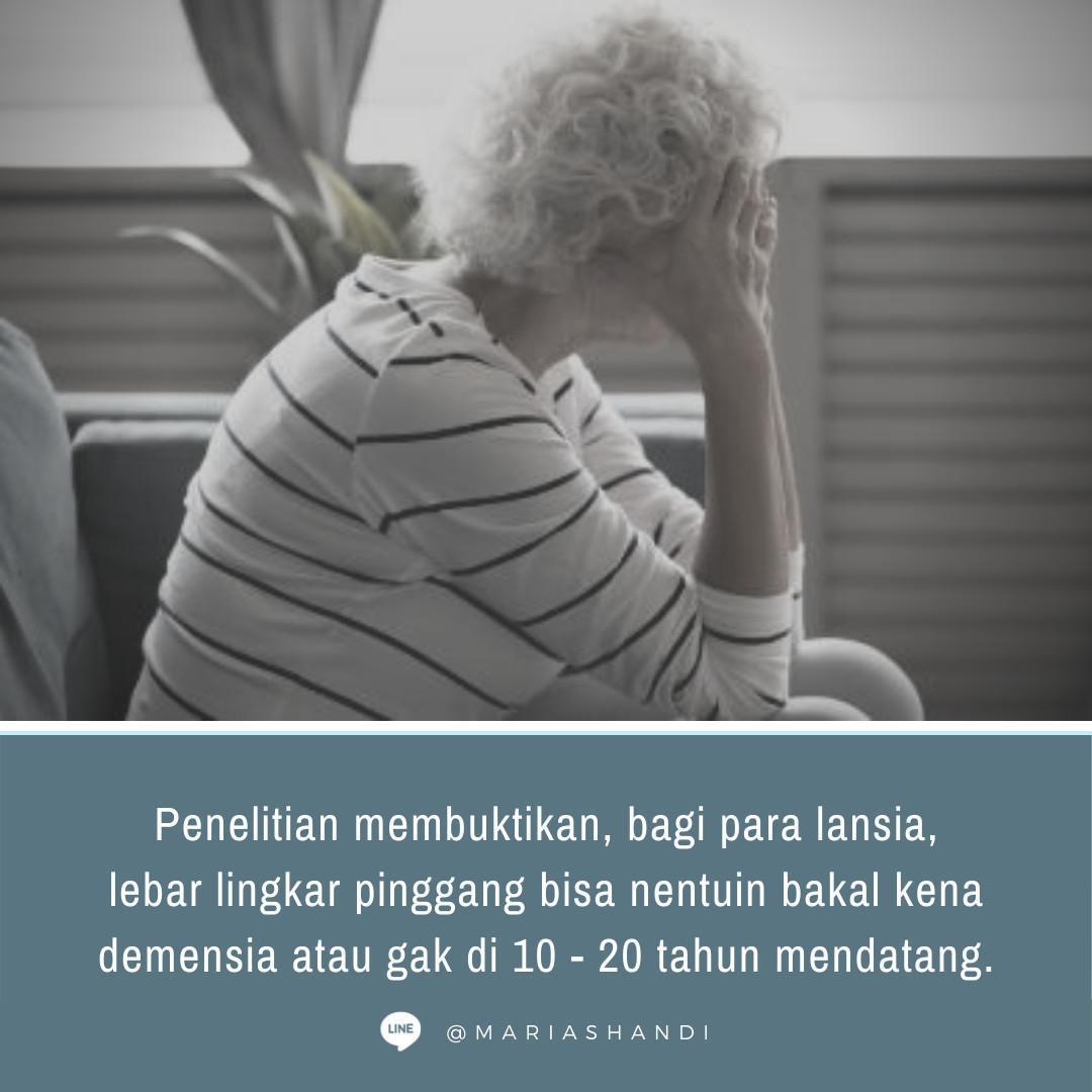 Lingkar Pinggang dan Demensia