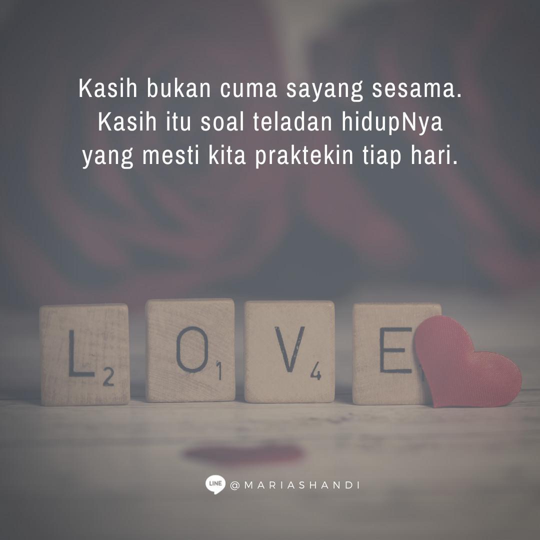 Kasih = Tuhan Yesus
