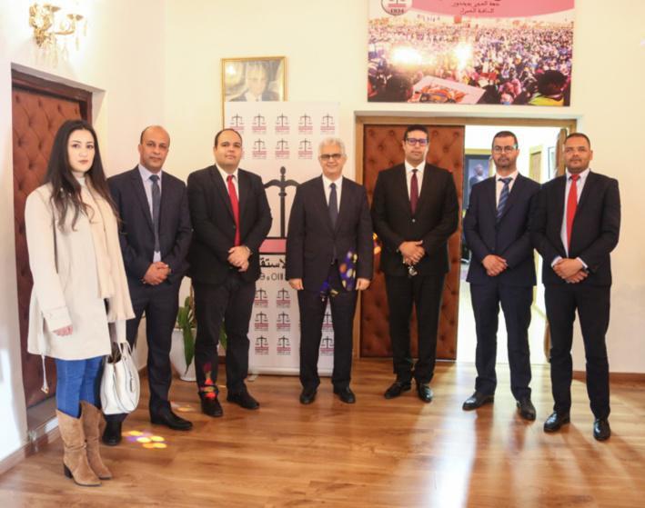 M. Nizar Baraka reçoit M. Bruno Kazuhiro, président de l'Union Internationale des Jeunes Démocrates