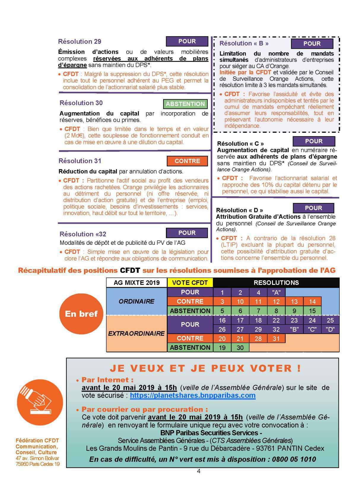 Assemblée générale des actionnaires d'Orange