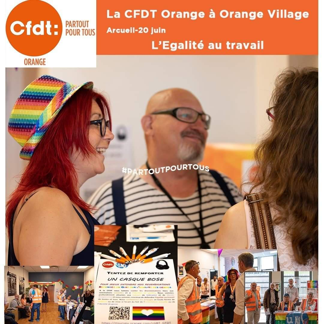 La CFDT à Orange Village pour l'égalité au travail