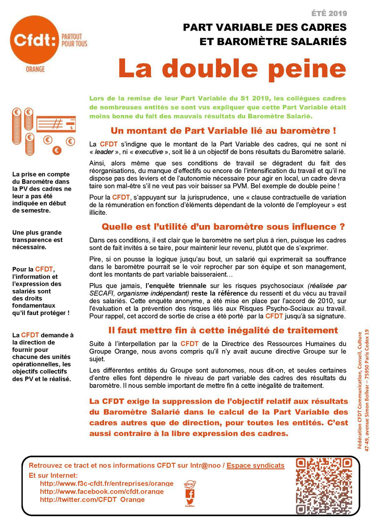 PVM et Baromètre salarié : la double peine