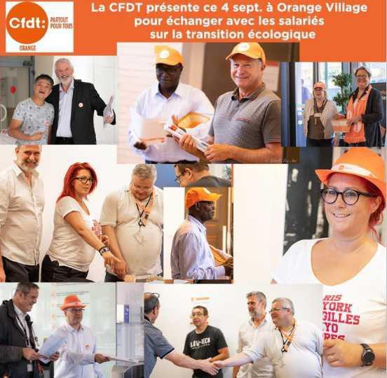 Action sur Orange village le 04/09/2019