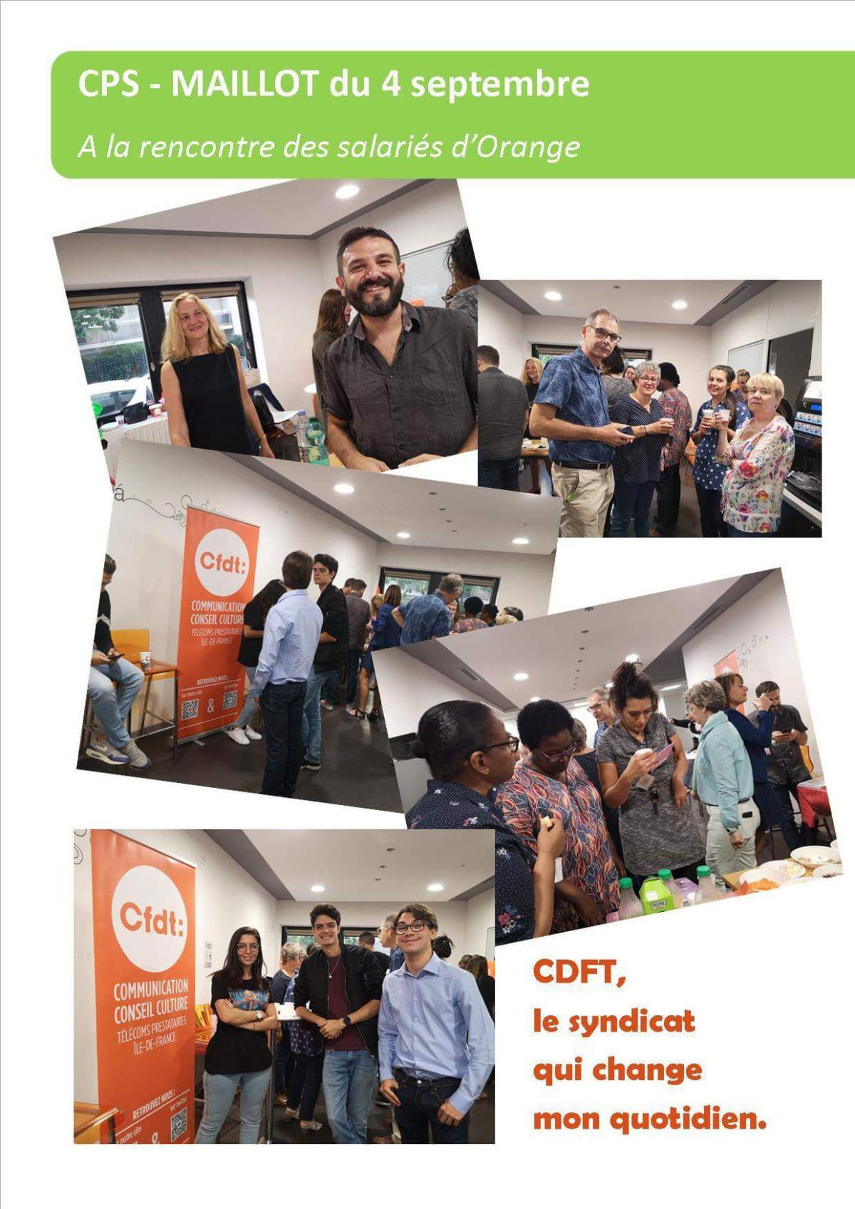 Rencontre CFDT à Maillot