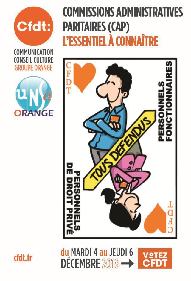 Mémo CFDT : Les Commissions Administratives Paritaires pour les fonctionnaires d'Orange