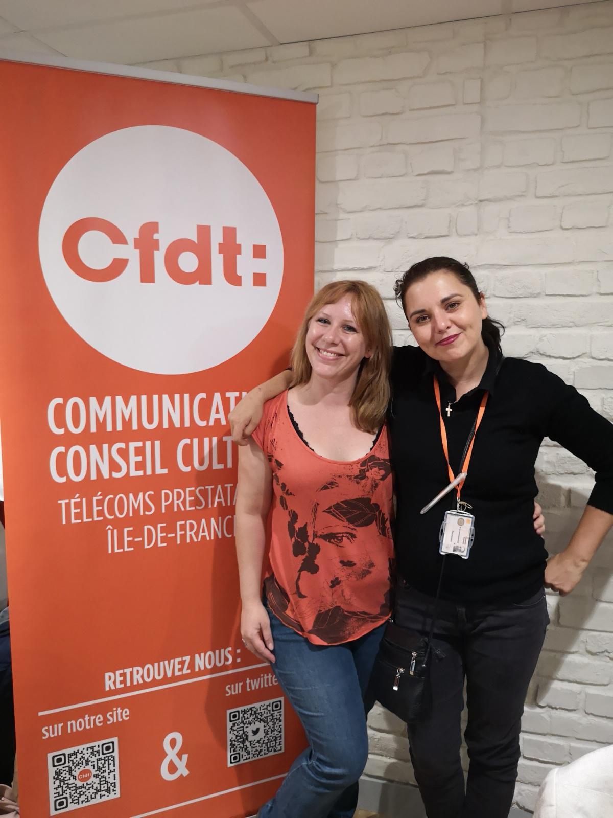 La CFDT à l'unisson à la boutique Opéra