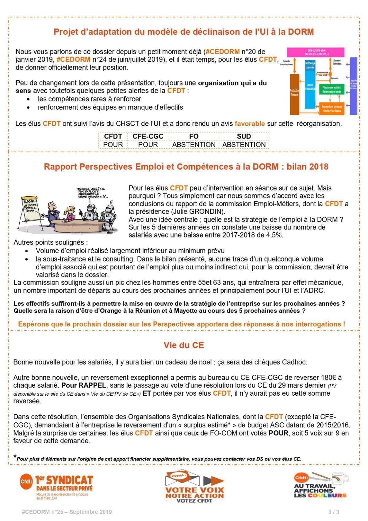 #CEDORM n°25 - Août 2019