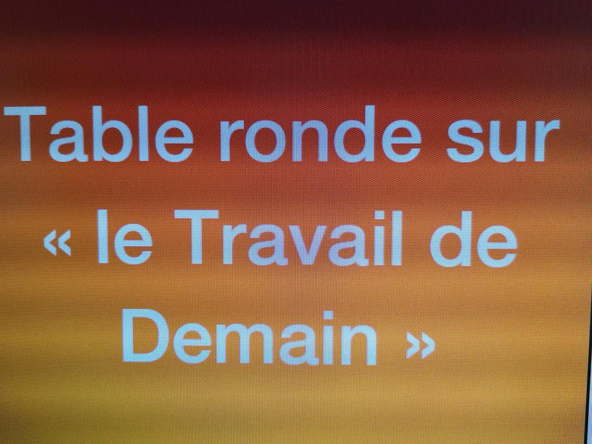 TABLE RONDE SUR LE TRAVAIL DE DEMAIN