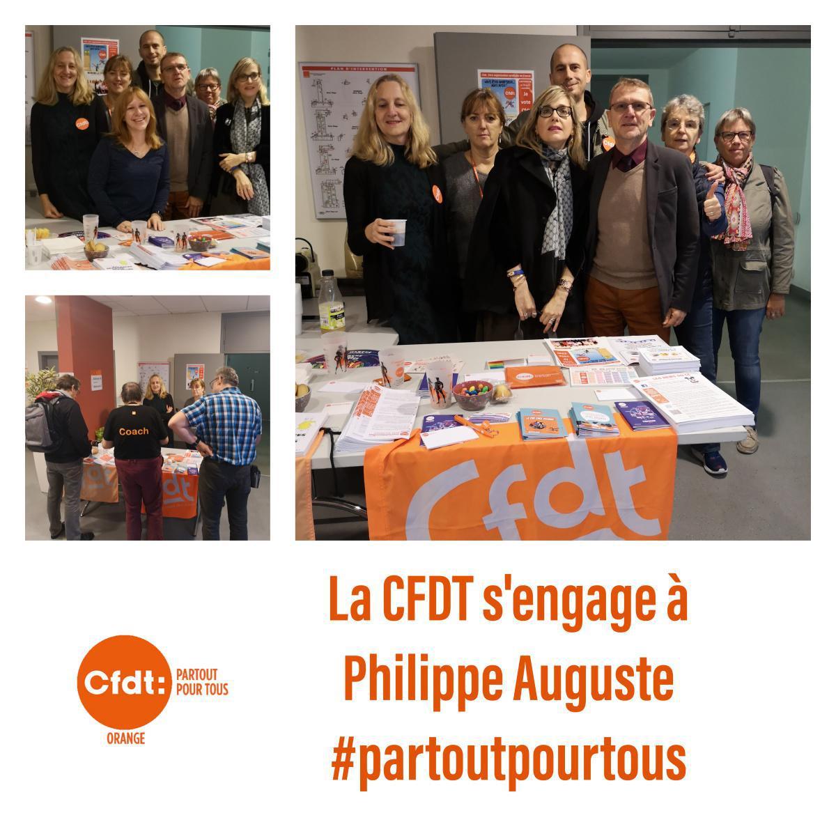 La team CFDT à Philippe Auguste