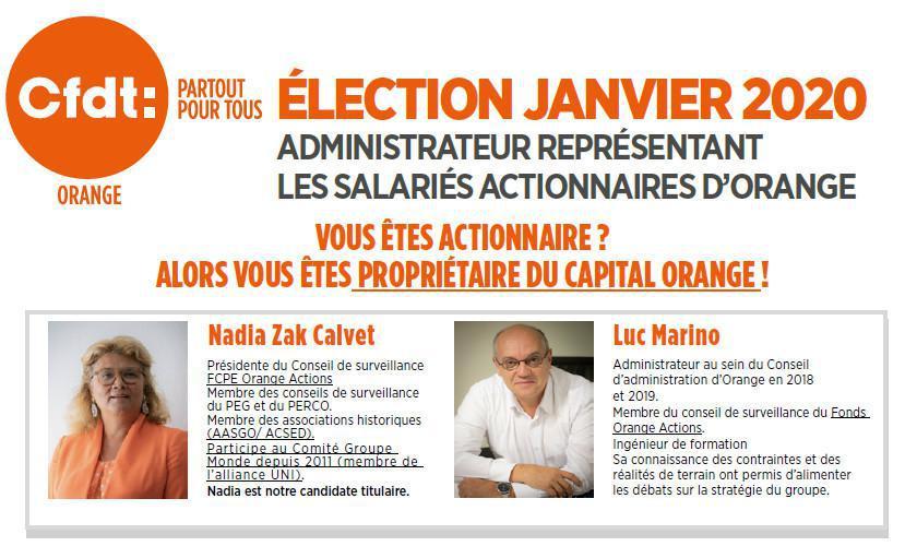 Election du représentant des salariés actionnaires