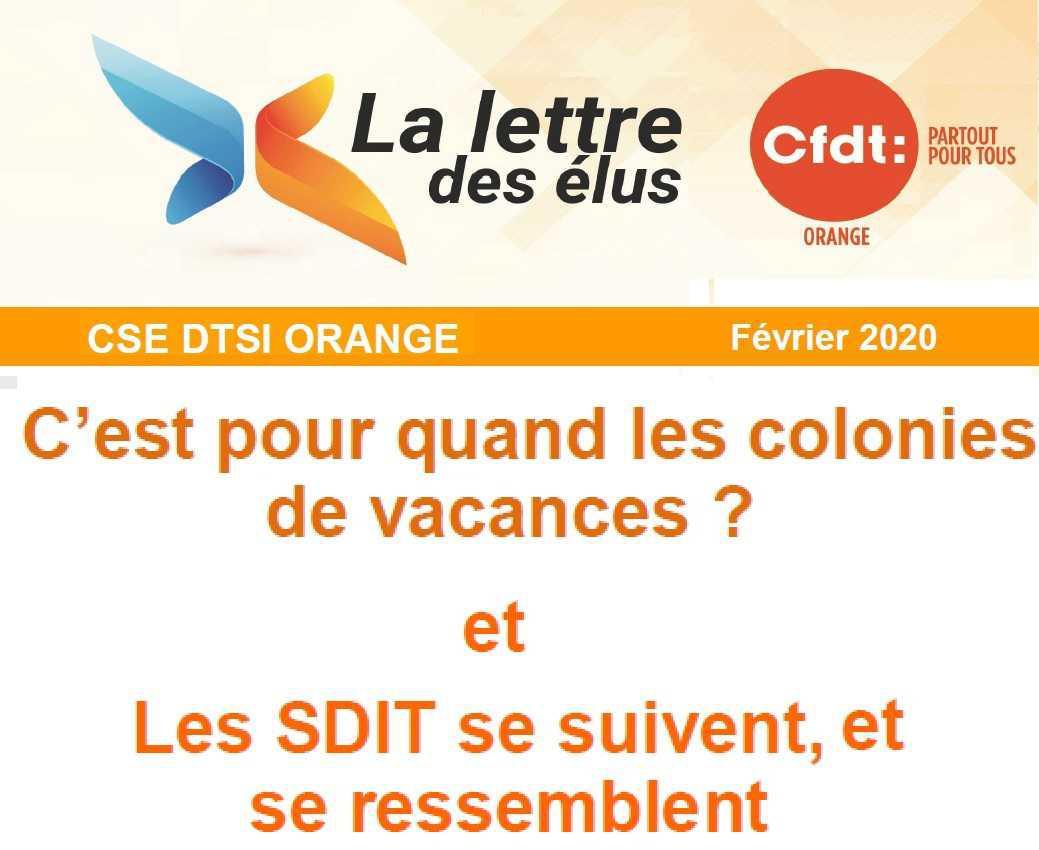 CSE Février 2020, colonies de vacances et SDIT