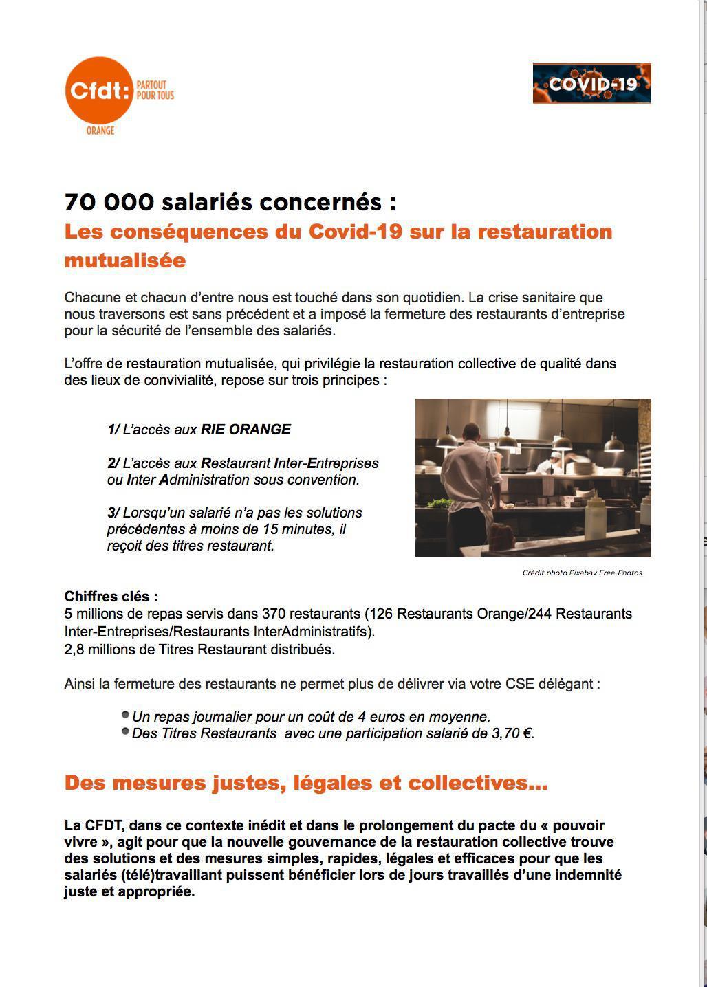 70 000 salariés concernés : les conséquences du #COVID_19 sur la restauration mutualisée