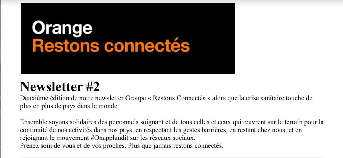 Restons connectés - Newsletter #2