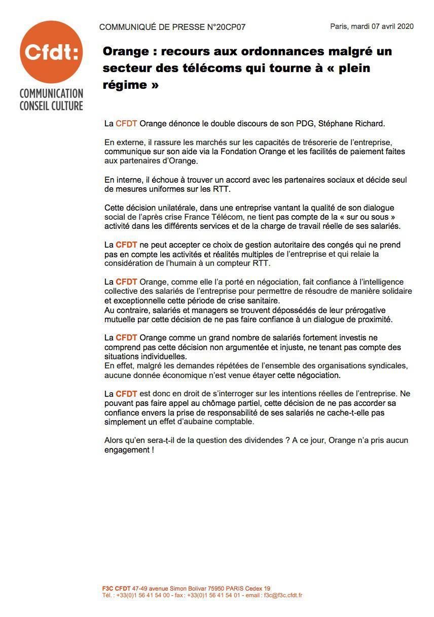 Orange : recours aux ordonnances malgré un secteur des télécoms qui tourne à « plein régime »