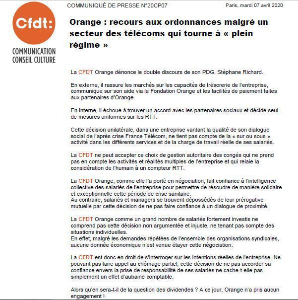 Orange : Recours aux ordonnances et double discours de Stéphane Richard
