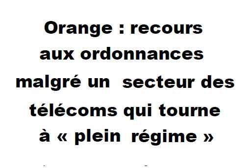 Orange recours aux ordonnances