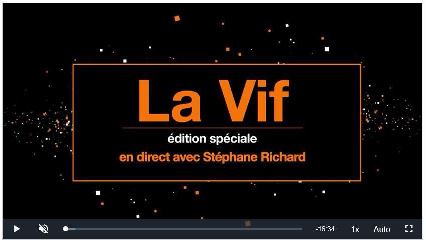 Notre synthèse de la Vif Stéphane Richard du 7 mai 2020 FIV #FIV