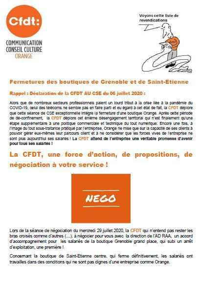 CFDT : Le syndicat qui négocie - Boutique St Etienne et Grenoble