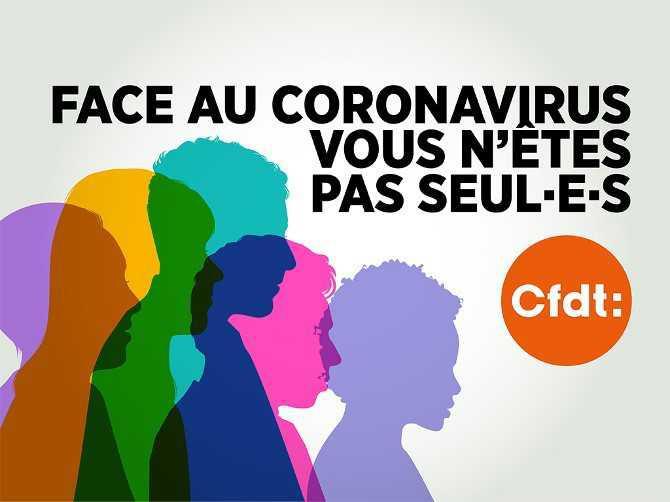 La CFDT mobilisée contre le COVID-19