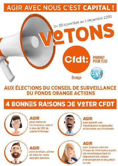"Elections Conseil de Surveillance du Fonds ""Orange Actions"""