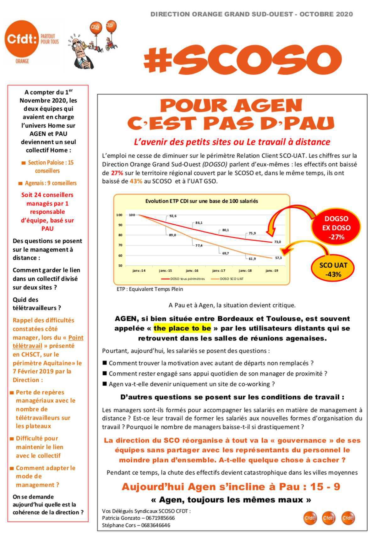 SCO - Agen Pau : RE Mutualisé