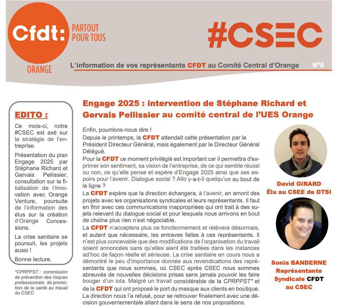 #CSE-C N°6 - Novembre 2020