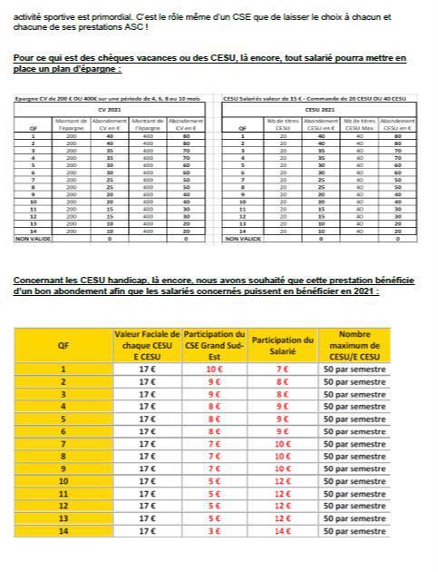 Lettre de vos élu(e)s CSE - Déc. 2020