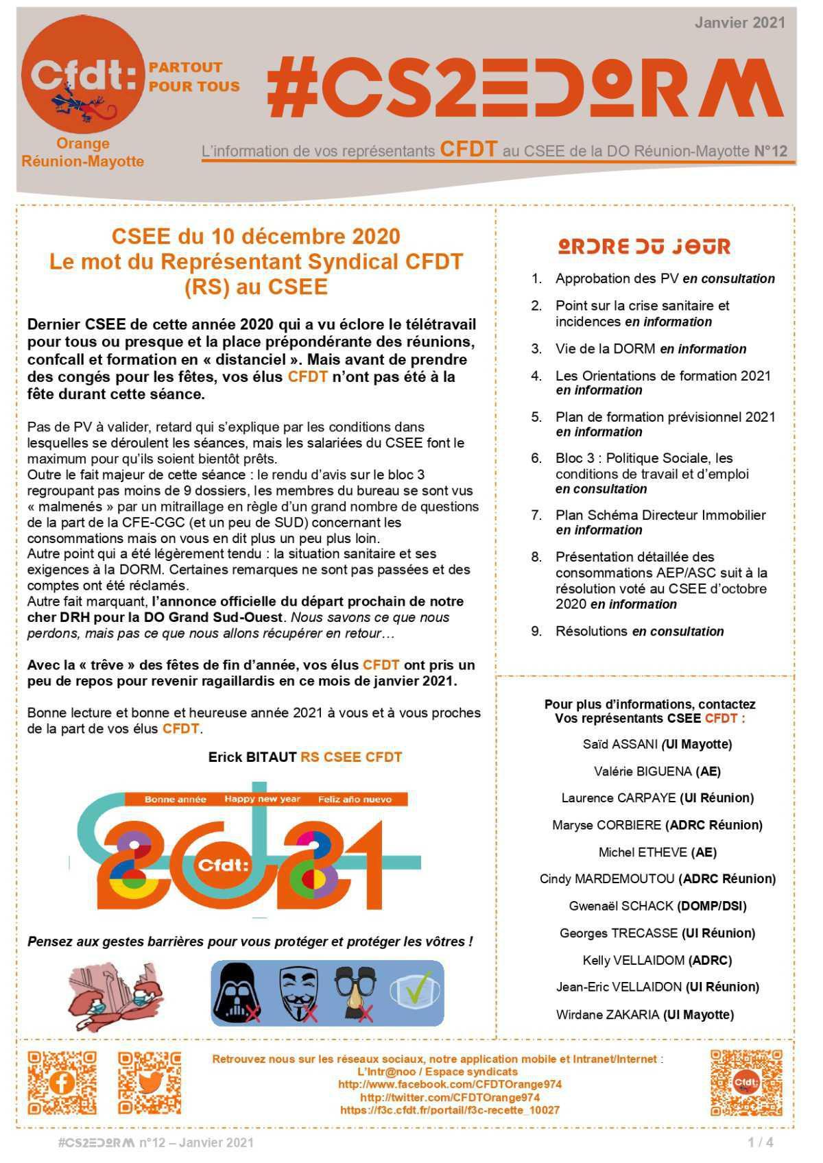 #CS2EDORM n°12 - dernier CSEE de 2020