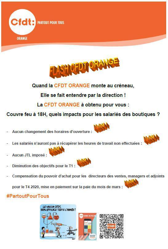 Flash info CFDT - AD - Réseau boutique