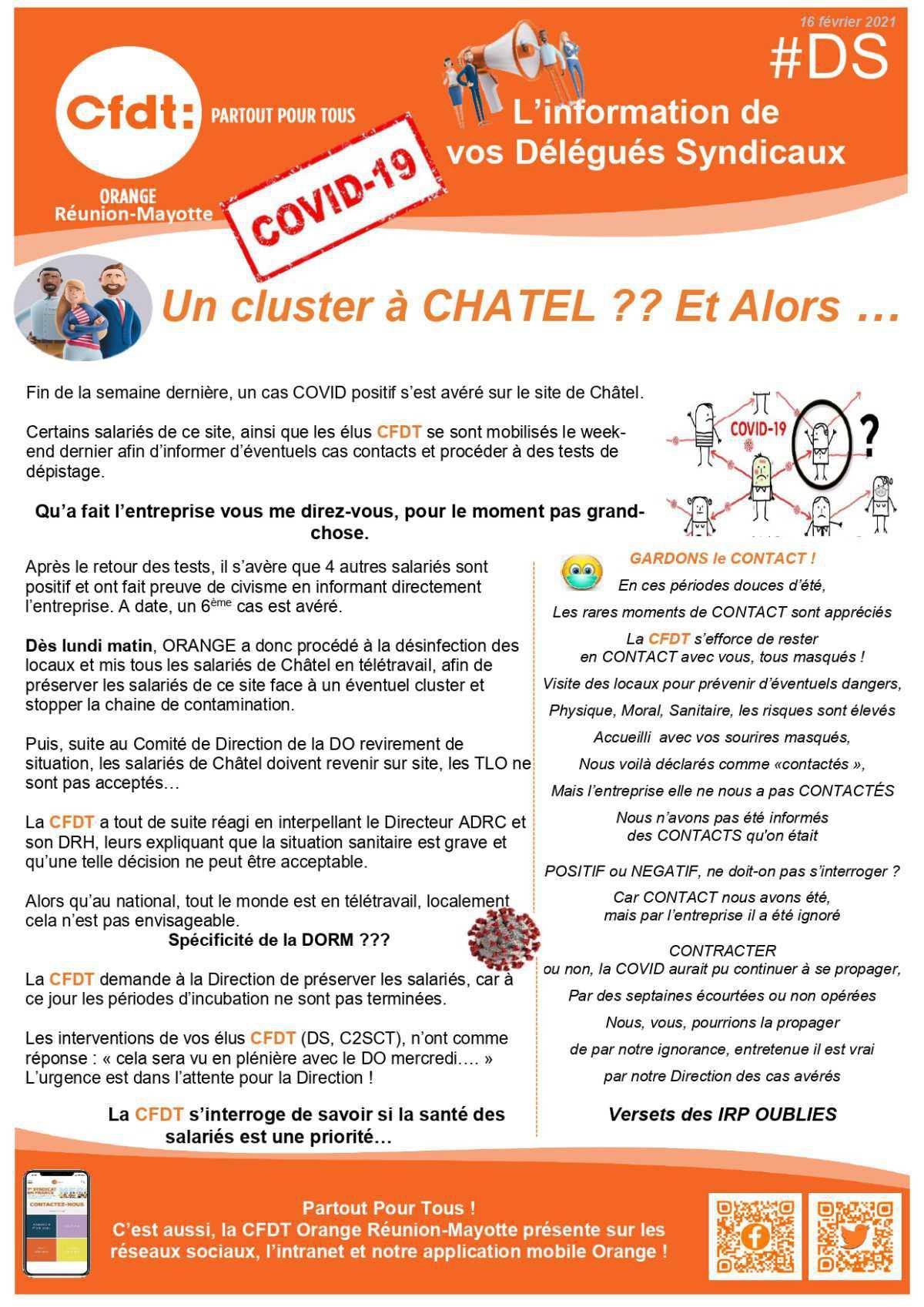 #DS - Un cluster à Chatel ??
