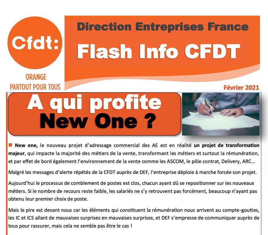 Flash Info -Direction Entreprises France - Février 2021