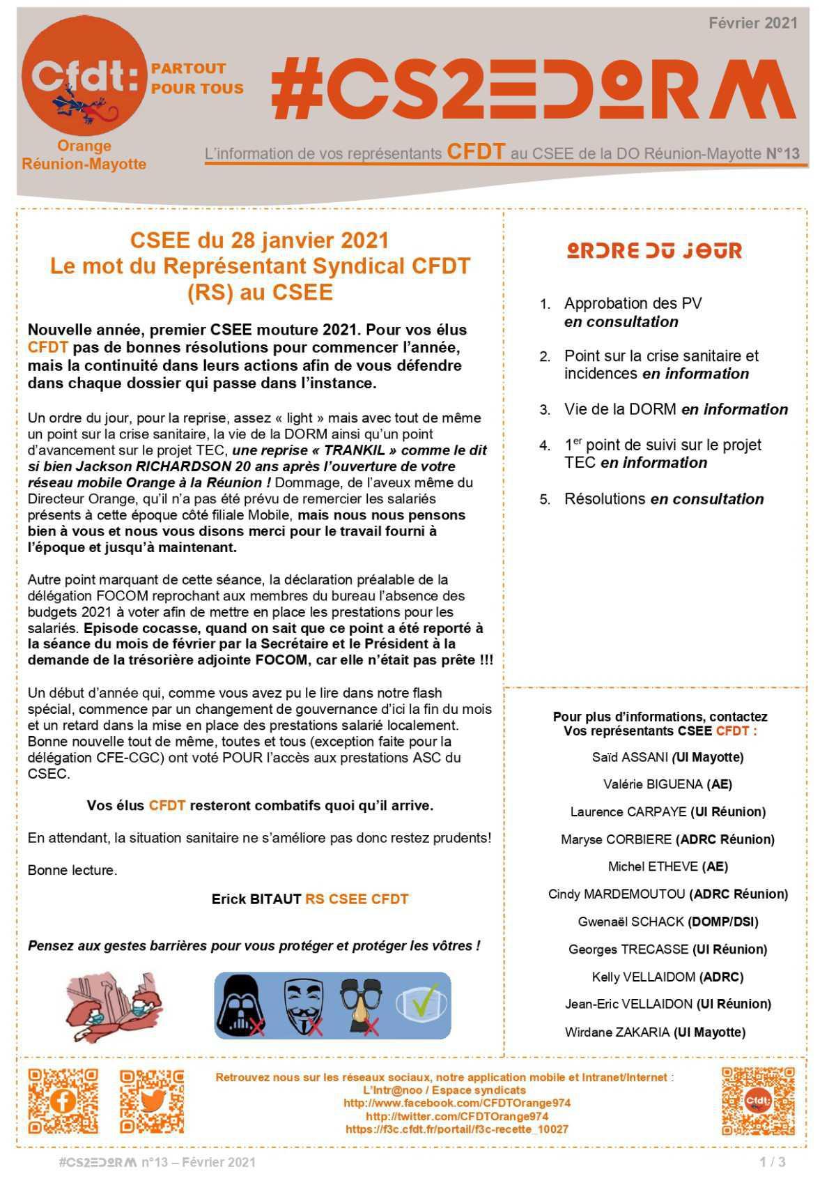 #CS2EDORM n°13 - CSEE du 28 janvier 2021