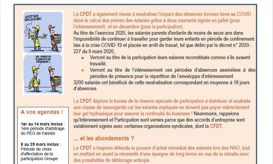Tract participation et interessement 2021