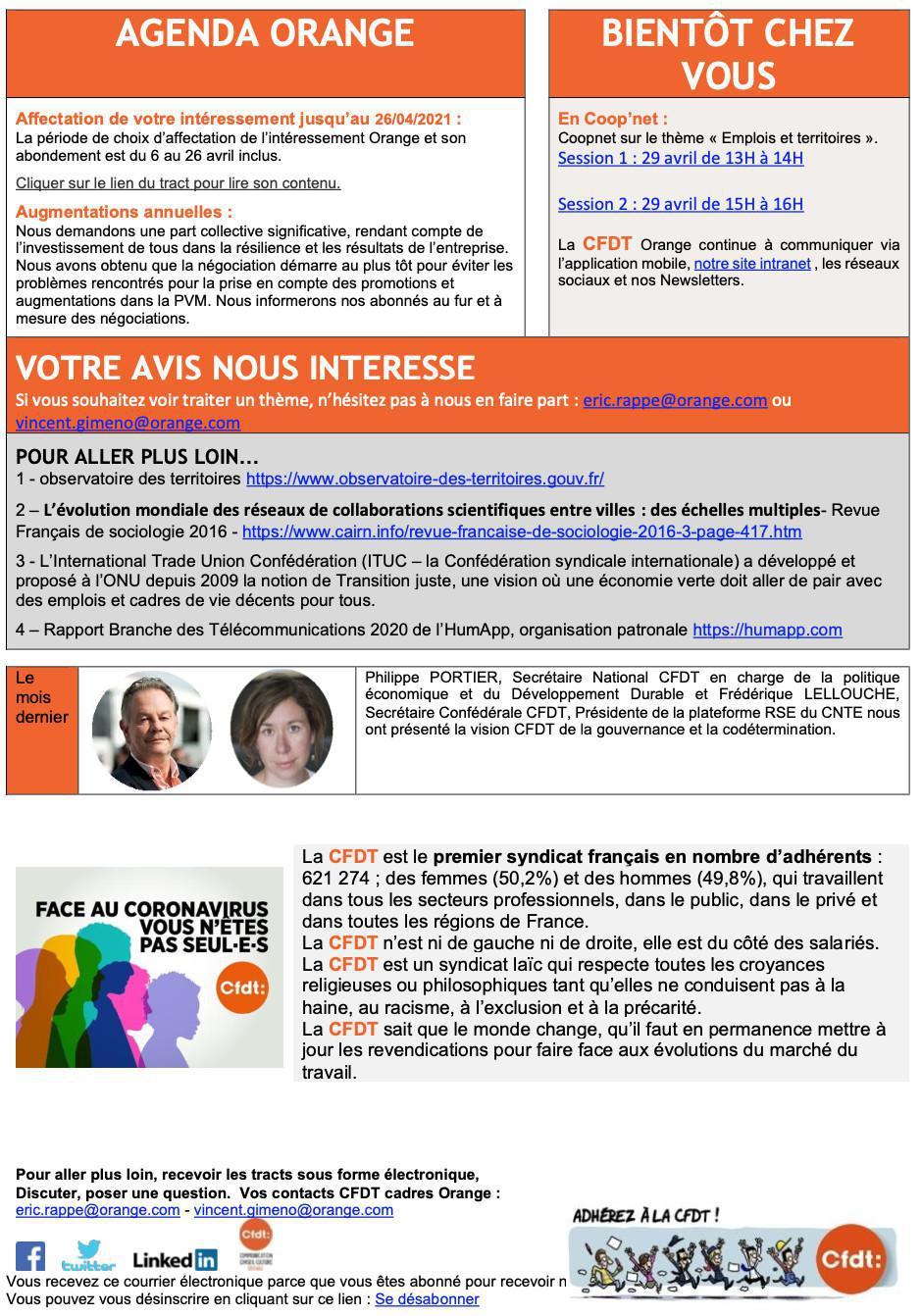 Newsletter Cadres - Avril 2021 - Emplois et Territoires