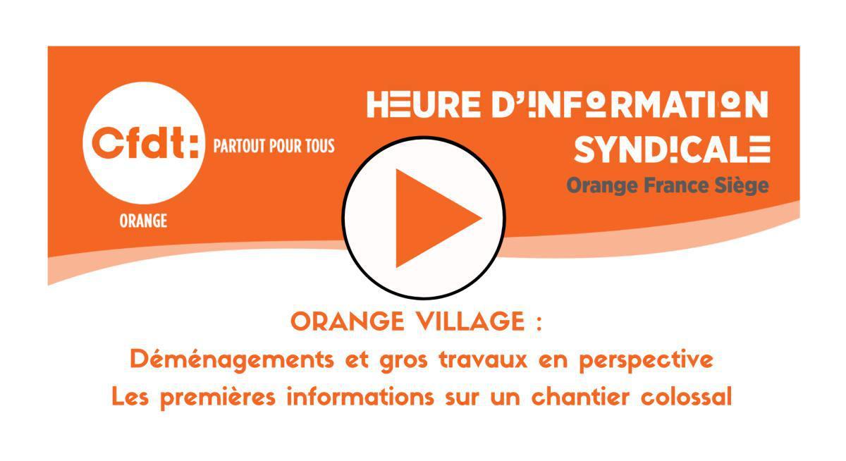 REPLAY HIS : Orange - Le Nouveau Village Ep01