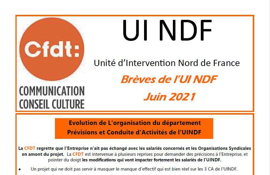 Bréve de l'UI NDF juin 2021
