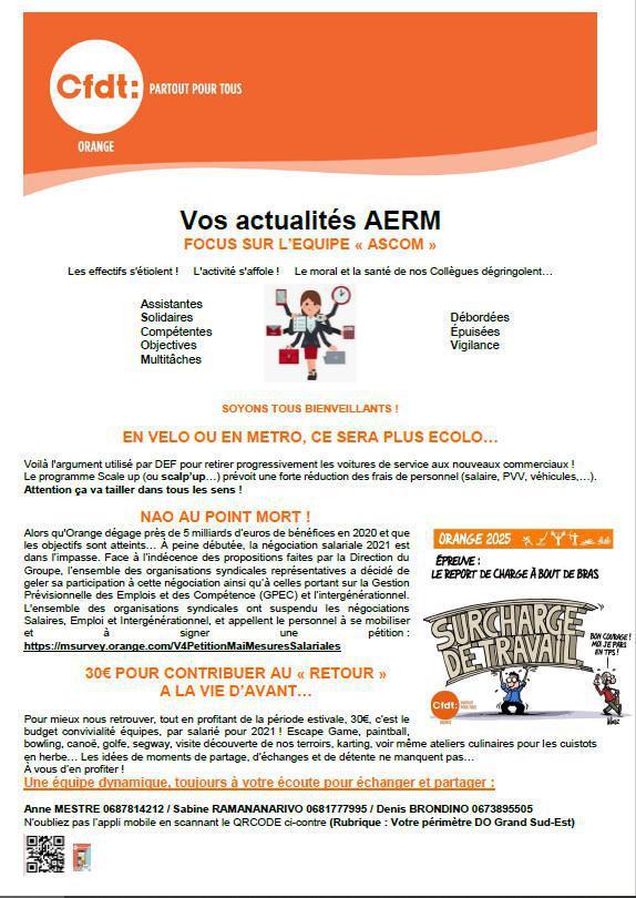Vos actualités AERM